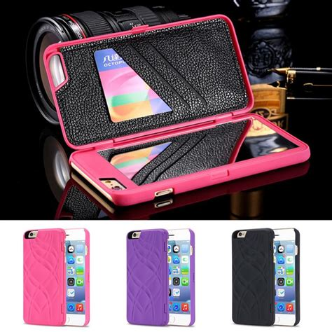 Casing Iphone 6 47 Inch Wallet Mirror Back Cover Flip Ipak popular iphone mirror wallet buy cheap iphone mirror wallet lots from china iphone