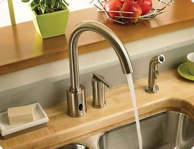 hands free faucet kitchen danze parma hands free kitchen faucet with spray jpg 400