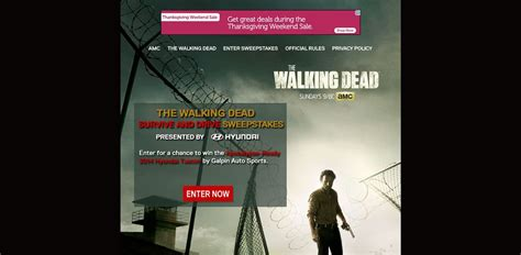 Walking Dead Sweepstakes Words 2017 - www amc com surviveanddrive amc s the walking dead survive and drive sweepstakes