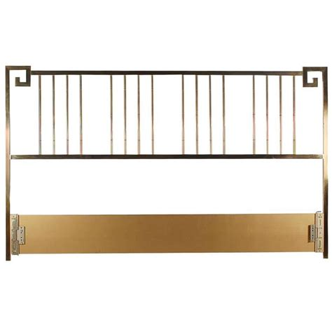 brass king headboard brass king size headboard by mastercraft for sale at 1stdibs