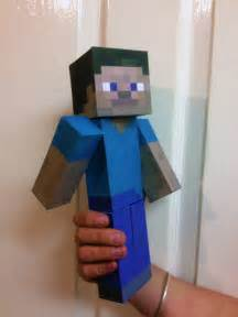 Minecraft Steve Paper Template by March 2013 Fpsxgames