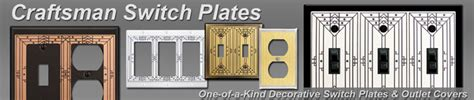 craftsman style light switches designer craftsman style switch plates outlet covers