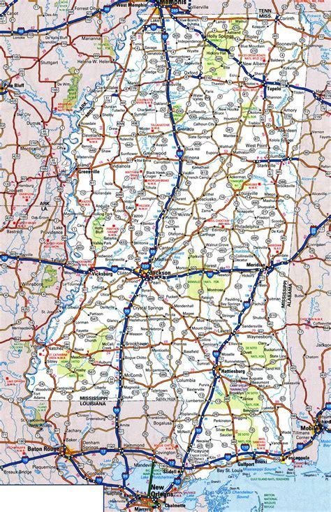 mississippi state map mississippi state map with cities swimnova