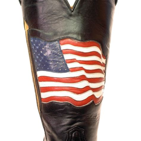 American Handmade Boots - american flag caboots custom cowboy boots
