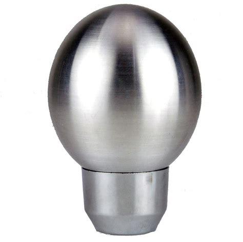 Aluminium Gear Knob satin aluminium egg shape gear knob car builder