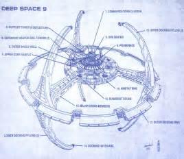 drawing blueprints star trek blueprints deep space nine concept drawings