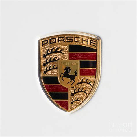 porsche usa emblem porsche emblem dsc2483 square photograph by wingsdomain