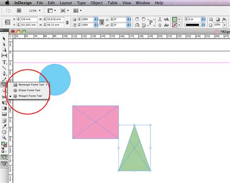 creating shapes indesign quick tip how to use the align panel in adobe indesign