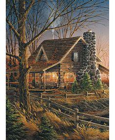 mountain landscape pencil drawings log cabin landscape