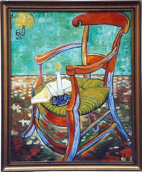 sedia di gogh la sedia vuota vincent gogh copia alla mostra da