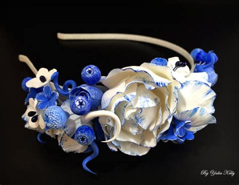 Hairband Blue Flower Kha37988 Svyq flowers headband flower crown headband blue flower crown