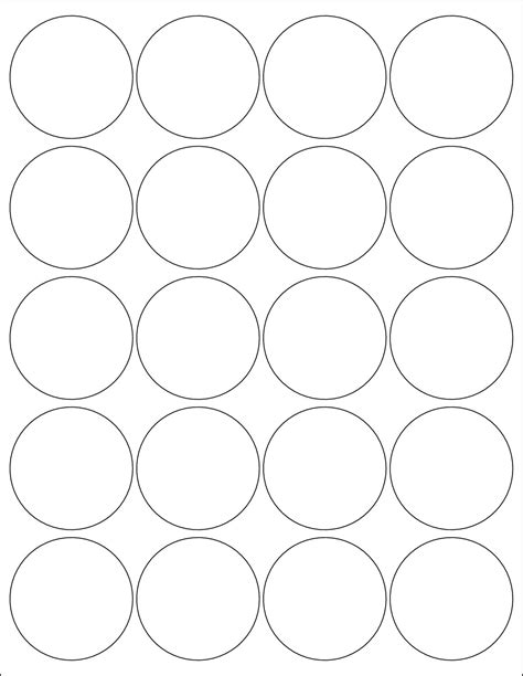 circle label template label template