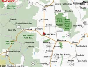 map of monte vista colorado location