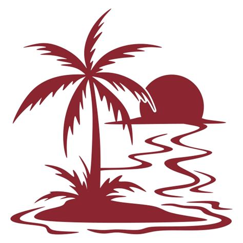 palm tree svg sunset with palm cuttable design