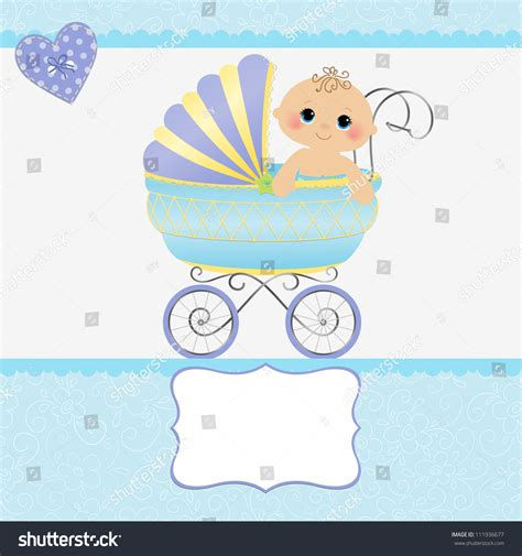 baby arrival cards templates template baby arrival announcement card stock vector