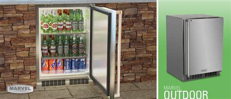 outdoor refrigerator marvel refrigeration