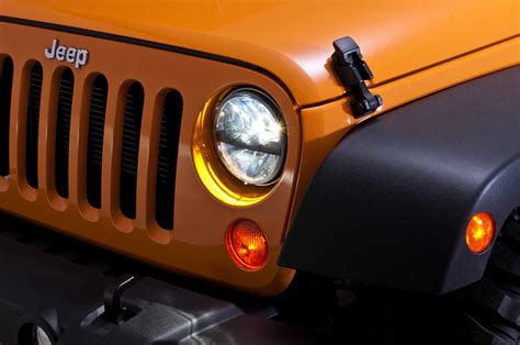 Led Headlights For Jeep Wrangler Tj Truck Lite 55009 Led Headlight Kit By Rigid Industries For