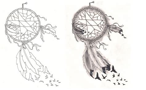 freebies tattoo desings dream catcher birds by
