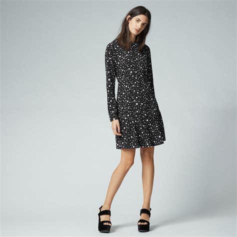 Hem Print Dress print flippy hem dress warehouse