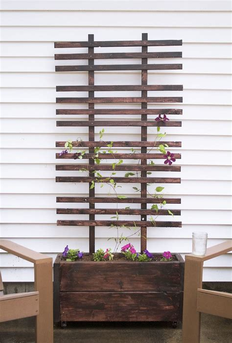 diy trellis plans trellis planter box woodworking projects plans