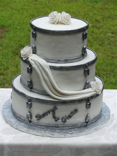 Hochzeitstorte Versetzt by Drum Set Wedding Cake Cakes I Made Cake