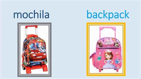 imagenes en ingles de utiles escolares utiles escolares ingles espa 209 ol youtube