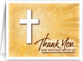 thank you for visiting card 32071 ministry greetings