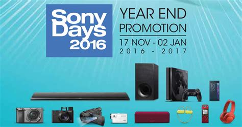 sony new year promotion malaysia sony day 18 nov 2016 187 sony has started their year end