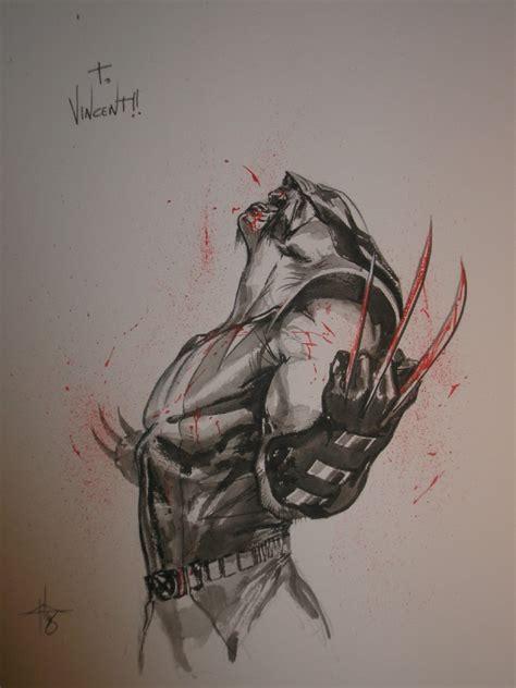batman wolverine tattoo wolverine by gabriele dell otto artist gabriele dell
