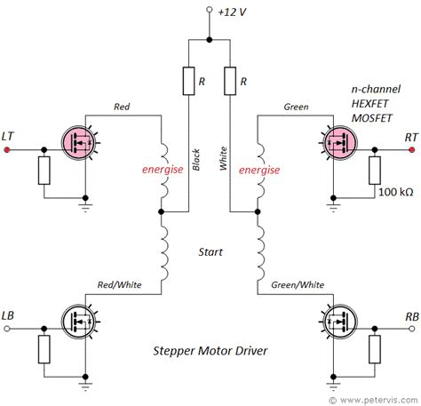 transistor motor driver circuit stepper motor driver using mosfet