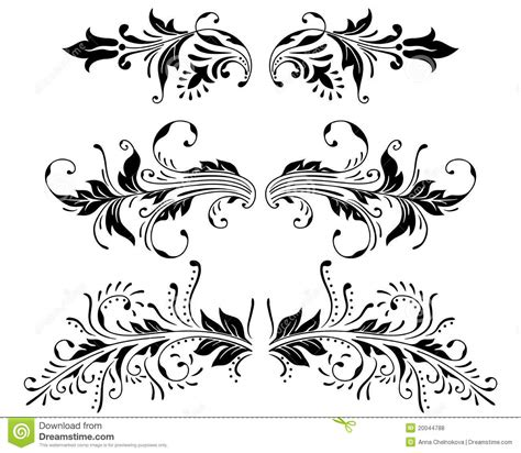ornament vector elements stock vector illustration of