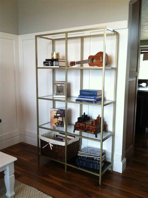 Home Interior Shelves by Ikea Hack Gold Spray Painted Vittsjo Tutorials