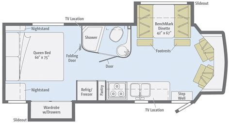 winnebago via floor plans winnebago floor plans class c 2011 winnebago view class