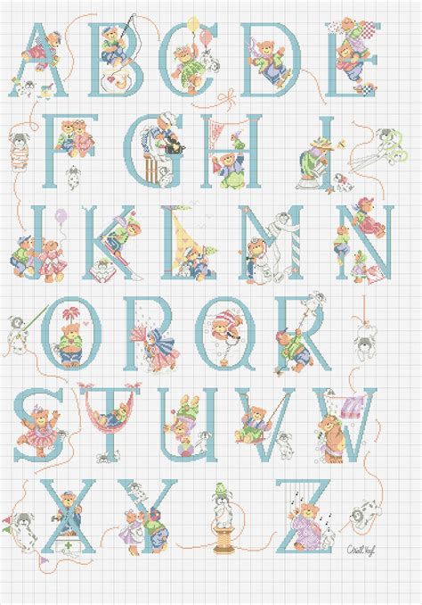 lettere punto croce da stare alfabeto punto croce con orsetti vari magiedifilo it