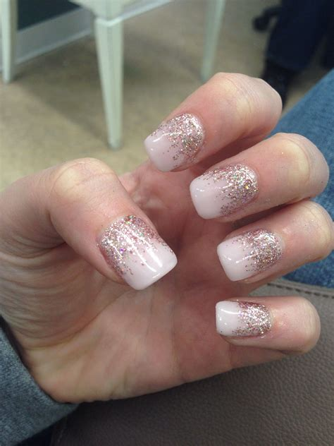 pink tutu champagne gel nails nails   pink gel