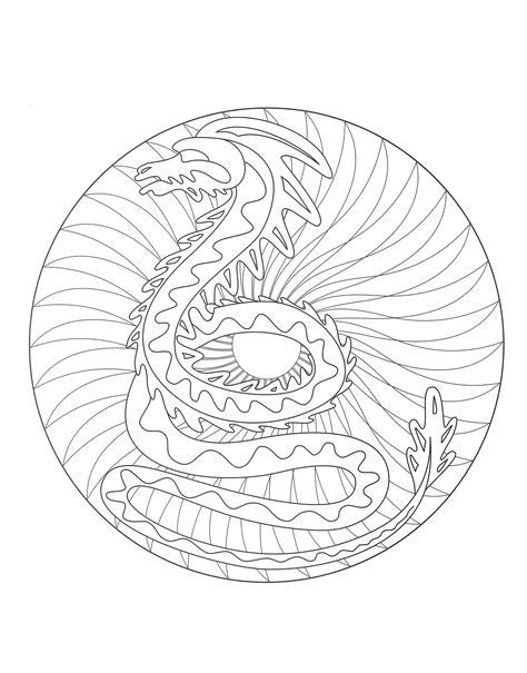 dragon mandala coloring pages free mandalas page 171 coloring free mandala dragon 2 187 free