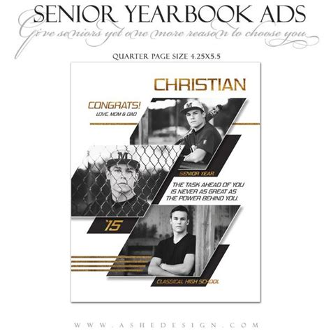 Senior Yearbook Ads For Photoshop Geometric Ashedesign Yearbook Flyer Template