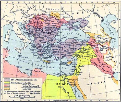 Ottoman Empire Map 1500 1683 In The Ottoman Empire