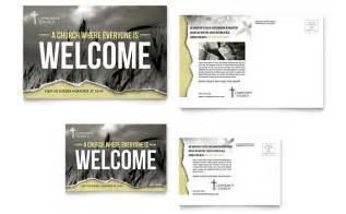 jumbo postcard template bible church postcard template design