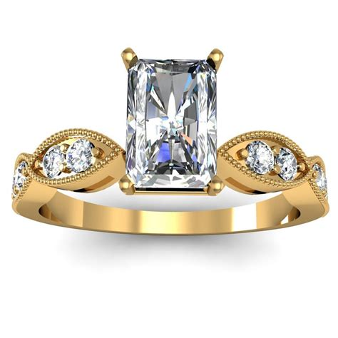 radiant pave style engagement ring engagement