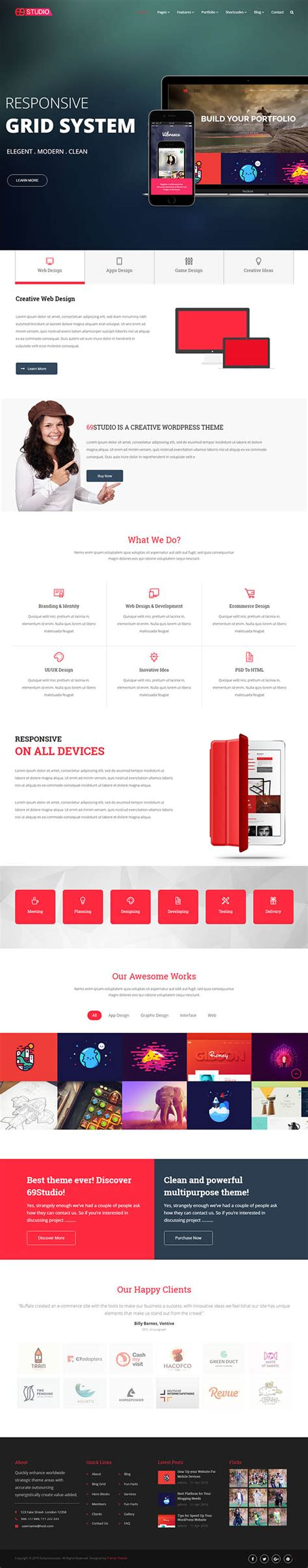 graphic design themes wordpress new wordpress themes with amazing user experience and