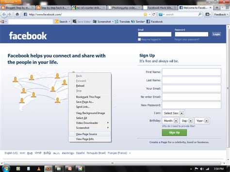 fb hack html html for fb hacking phpsourcecode net