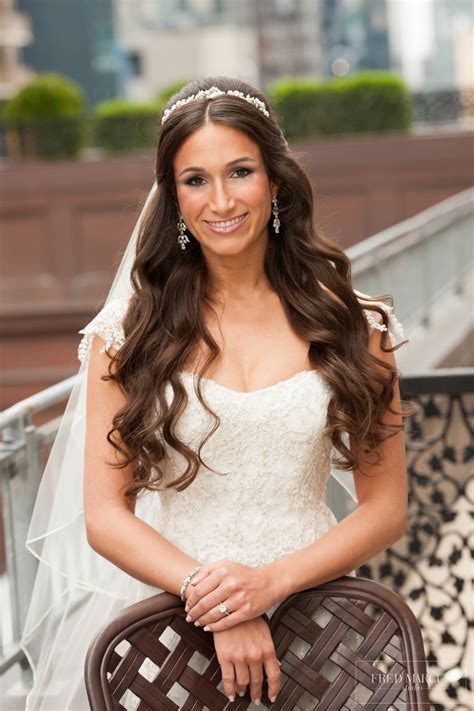 Wedding Hairstyles With Side Tiara by Wedding Hair Half Up With Headband And Veil Www Pixshark