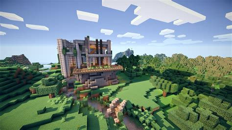 minecraft pictures of houses modern house minecraft shaders pictures