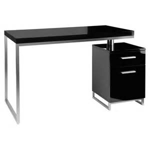 Computer Workstation Desk And Hutch Reversible Desk And Drawers Black Dwell
