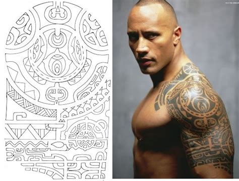 dwayne johnson hawaiian tattoo desenho maori da tattoo de dwayne johnson tatuajes