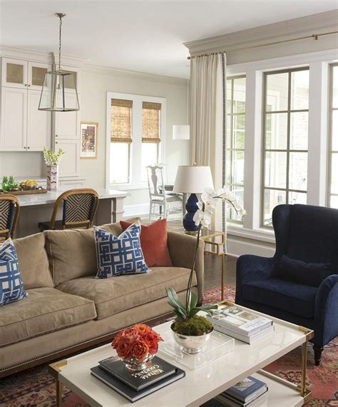 hallie henley design love the contrast of darker floors 25 best ideas about navy family rooms on pinterest