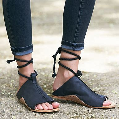 Sandals Around Toe by S Wrap Around Sandal Ankle Open Wrapped Big Toe Black