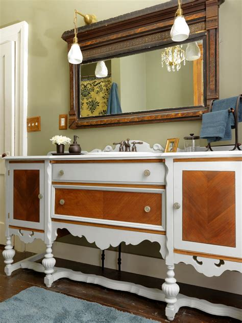 How To Turn A Dresser Into A Buffet Table by Repurpose A Dresser Into A Bathroom Vanity How Tos Diy