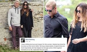 mick fanning  wife karissa dalton announce   ended marriage daily mail